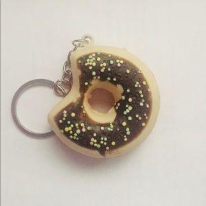 Cute Brown Donut Keychain